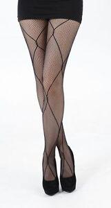 Pamela Mann  X-Line  Net Tights - Black - Pretty and Pratical UK 8 - 14