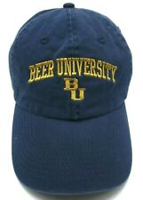 BEER UNIVERSITY blue adjustable cap / hat - 100% cotton - humor