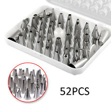 52 Pieces Icing Piping Nozzle Set Tool Box - Cupcake Cake Sugarcraft Decorations