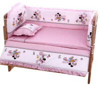 5Pcs/Set Baby Bedding Set Allround Bumper Cot 100% Cotton Bed Protector Washable
