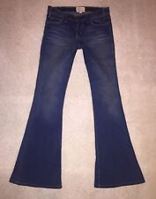 CURRENT ELLIOTT THE BELL BOTTOM LOW RISE FUEL FRAY WASH JEANS 25 X 31 HEMMED EUC