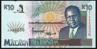 1995 Malawi 10 Kwacha Banknote * aUNC * P-31 *