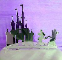 Acrylic Disney castle Mickey & Minnie birthday,wedding cake topper decorations