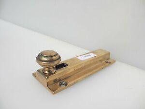 """Victorian Brass Door Lock Bolt Bathroom Lock WC Toilet Old Bronze Antique 4""""L"""