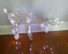 "Vintage Beaded Lit Light Up Deer Christmas Holiday Decor ~ 24"" L x 15"" T x 5"" W"
