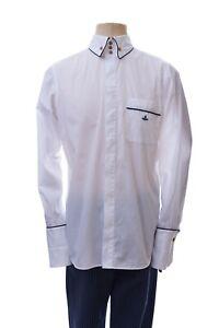 Vivienne Westwood Shirt Long Sleeve Button Down Logo Men's Size IV White