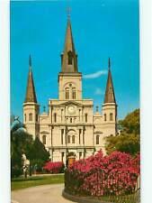 Church St Louis Cathredral New Orleans Louisana Bourbon France Postcard # 8591