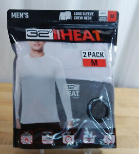 Men's 32 Degrees Heat Long Sleeve Crew Neck Quick-Dry Base Layer T-Shirt 2 Pack