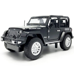 1:32 Jeep Rubicon 1941 SUV Model Car Diecast Toy Vehicle Pull Back Gift Black