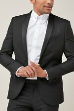 Next textured skinny-fit tuxedo suit; dinner jacket (36L) and trousers (32L)