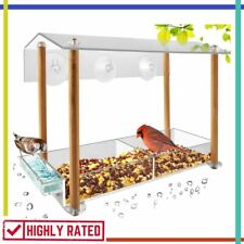 Bird Feeder Strong Large Size with Suction Cups Seed Tray Weatherproof Hhxrise