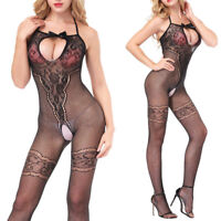 Sexy Lace Lingerie Babydoll Crotchless Teddy Nightie Leotard Body Suit Stocki TR