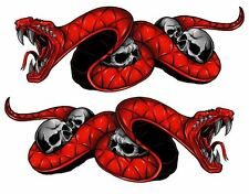 "Hyosung GT650 650R GT250 250R Red Snake Motorcycle Decals 8"" Decals"