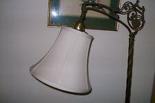 Quality CREAM PETITE Silk Shade 4 Bridge Lamp - NEW!!