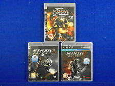 ps3 NINJA GAIDEN x3 Games 1 + 2 + 3 Sigma Beat Em Up Games PAL UK REGION FREE