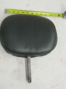 """Corbin style backrest removable adjustable rear pouch Harley others 8"""" x 10"""" pad"""