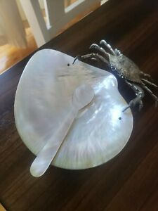 Crabe silver Plated Pearl Dish Caviar Plate