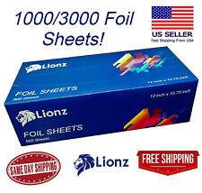 """Aluminum Foil Sheets 12"""" X 10.75"""" Precut Tinfoil Wraps For Food 1000/3000 Sheets"""