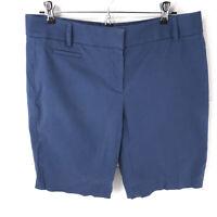 "Ann Taylor Loft marisa shorts size 6 blue inseam 9"" sht12"