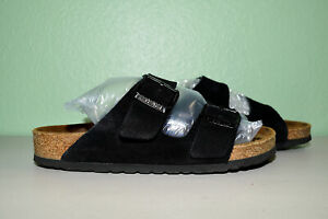 Birkenstock Arizona Soft Footbed Suede Black Women 37 Reg