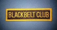 Vintage 1970's Karate Black Belt Club Mma Martial Arts Gi Jacket Patch Crest 455