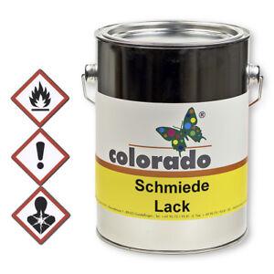 Kunstschmiedelack, Metallschutz Lack schwarz-matt o. weiß - 2,5 Liter