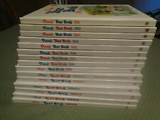 15 disney's year books, 1991 thru 2004