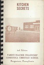 MORGANTOWN PA ANTIQUE c1960 CONESTOGA CHRISTIAN SCHOOL COOK BOOK KITCHEN SECRETS