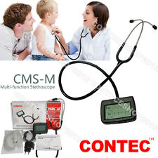 CONTEC CMS-M Stethoscope Digital ECG waveform HR PR SPO2 Probe, Alarm