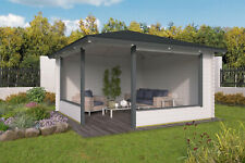 44 mm Pavillon 400x400 cm Gartenhaus Blockhaus Holzhaus Holz Neu Pavillion