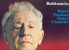 """ARTUR RUBINSTEIN RAVEL POULENC FAURE CHABRIER 12"""" LP (L7451)"""