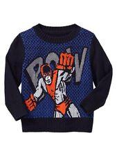 GAP Baby / Toddler Boy 3 Years NWT Batman / Spiderman Superhero Intarsia Sweater