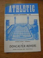 14/10/1978 Wigan Athletic v Doncaster Rovers [1st League Season] (Team Changes,