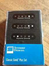Seymour Duncan Classic Stack Plus For Statocaster Pickup Set Black New STK-S4