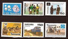 18T2 TANZANIE 6 timbres neufs , année 1985/86 Sujets divers