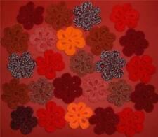20 fiori uncinetto a mano piuttosto in tonalità di Rosso e Arancio by allwayscraftyjackie!
