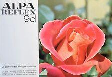 Catalogue photographique pour Appareil Alpa reflex 9d. (Fr)