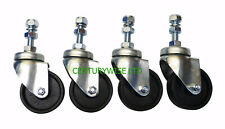 "4 x WHIRLAWAY 60mm CASTORS  for 18"", 20"", 22"", & 24"" rotary cleaners.Wheel,patio"