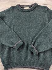 USA made WOOLRICH sweater RAGLAN wool MEDIUM vintage green