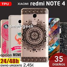 FUNDA TPU Gel dibujos para XIAOMI Redmi NOTE 4 note4 dibujo case print frases