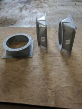"""Hot dipped galvanized 7GA Square to Round Reducers 12""""X12"""""""