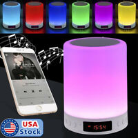 Wireless Bluetooth Speaker Lamp Touch Control Bedside 7 colors LED Night Light