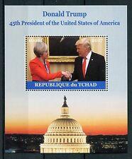 Chad 2017 MNH Donald Trump Meets Theresa May 1v M/S US Presidents Stamps