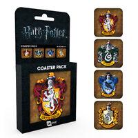 Official Harry Potter 4 Coasters Set - Gryffindor Hufflepuff Slytherin Ravenclaw