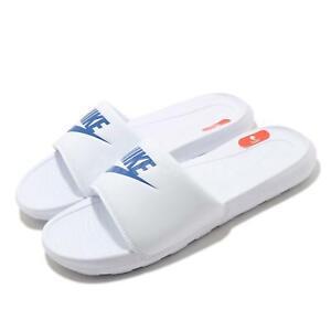 Nike Victori One Slide White Blue Men Sports Slip On Sandal Slippers CN9675-102