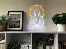 New Buddha Neon Art Sign Handmade Visual Artwork Home Wall Decor Light