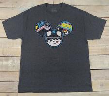 NEFF Neffmau5 Deadmau5 Headwear Graphic Short Sleeve Gray T-Shirt Size XL USA