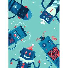 Robot Family Canvas Wall Art Print Poster