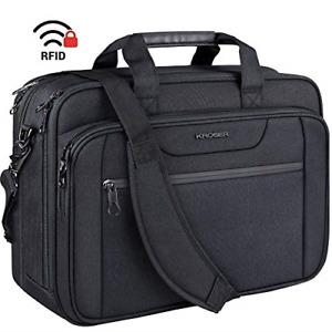 "KROSER 18"" Laptop Bag Expandable Laptop Briefcase Fits Up to 17.3 Inch Laptop"