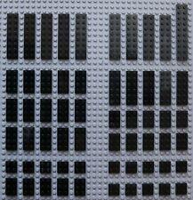 Lego Black Plates 2x2 2x3 2x4 2x6 2x8 & 2x10 VGC